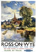 Ross On Wye, Herefordshire. British Railways (WR) Vintage Travel poster by Jack Merriott. 1951